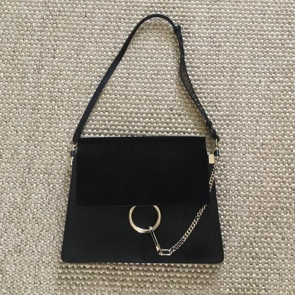 Chloe Handbags - FAYE by CHLOE black leather and suede size medium